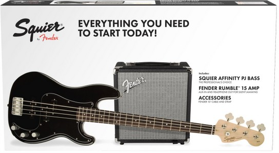 FENDER Squier Affinity Precision Bass Pack Black