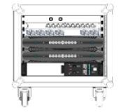 ShowMatch™ X8 Tour Rack incl. Powersoft Amplifiers